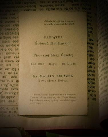 Pamiątka Święceń Kapłańskich